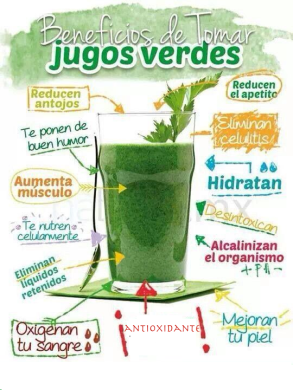 Jugo Verde - Beneficios